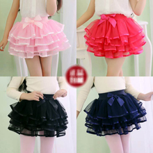 Bow Rainbow Tutu Skirts For Baby Girls Fluffy Mesh Dance Skirt