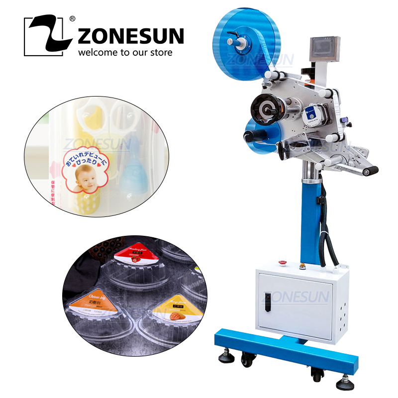 ZONESUN XL-T851 Automatic Flat Surface Cans Food Production Line Labeling Machine Label Applicator Square Bottle Sticker Labeler