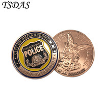 Philadelphia Police 24K Gold Plated Brass Coin, Custom Challenge Coins Medal 40*3 mm American Souvenir Coins