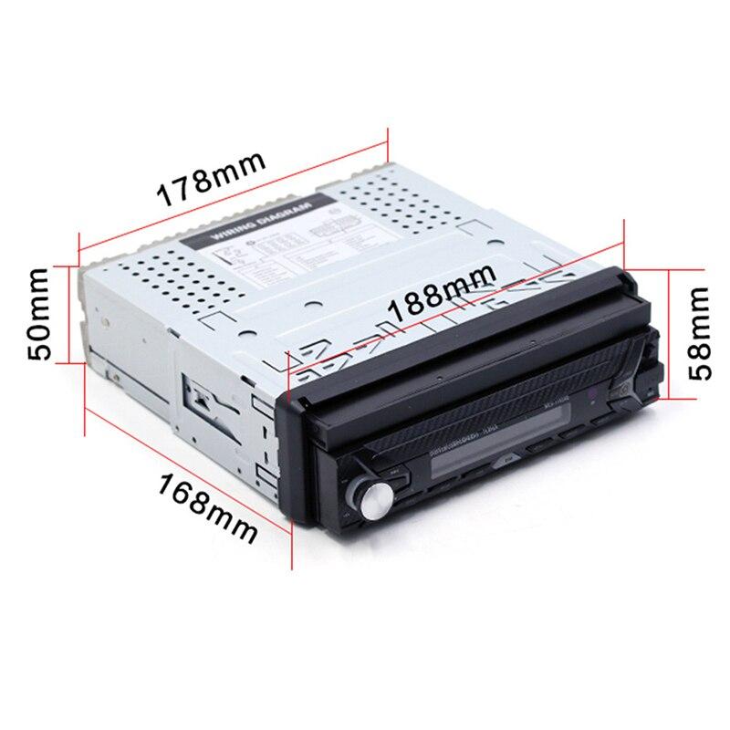 7 pouce Unique Voiture MP5 2018 Auto Haute Définition Inverser Vue Arrière Bluetooth MP3 Carte Radio Au Lieu de Voiture CD lecteur DVD Lecteur