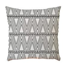 Pillowcase Geometric Black and White Linen Blend Home Bed Letter Pillow Case Cushion 45 * 45cm Drop shipping Aug7(China)