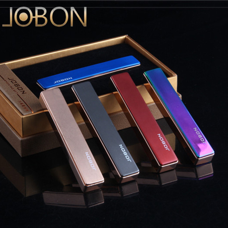 Brand JOBON Metal Mirror USB Lighter Windproof Lighters Men Electronic Cigarette Lighter Business Gifts-ZB-679