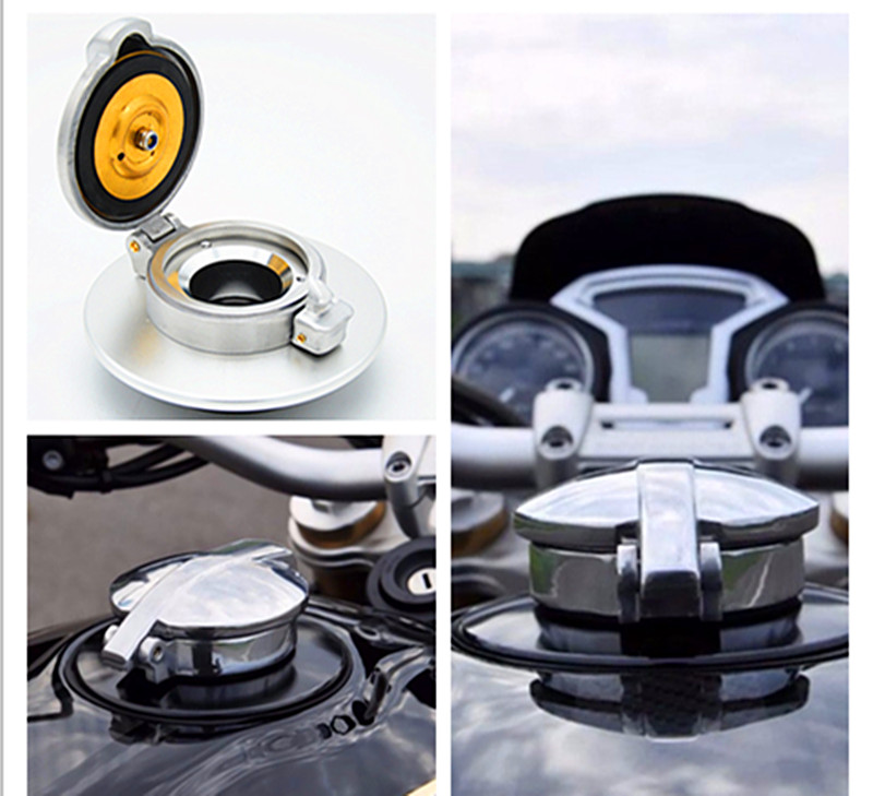 MOTO4U Petrol Fuel Gas Tank Cap For BMW R Nine T R 9T Matt Silver Black ring for bmw r nine t techometer speedometer ring cover r 9t