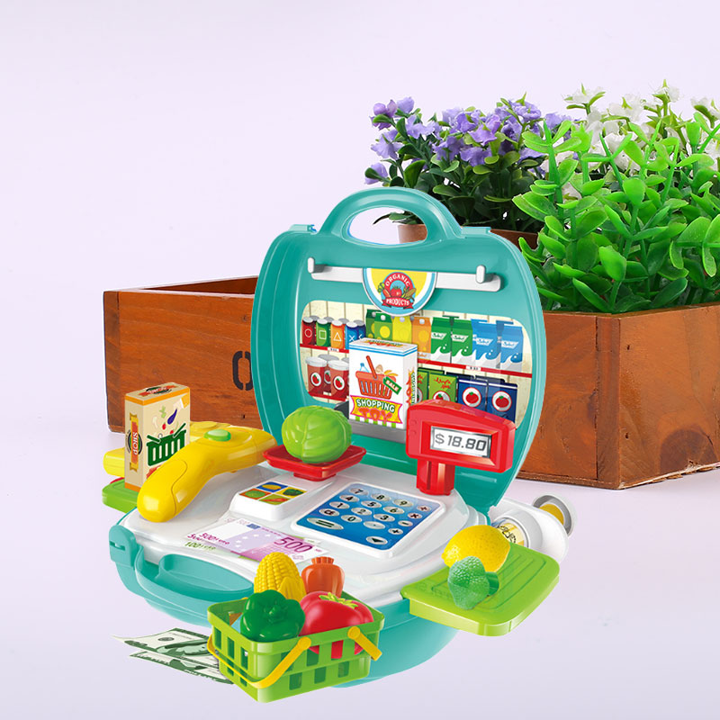 Kitchen Counters On Toys: Simulation Cashier Counter Storage Box Pretend Cash