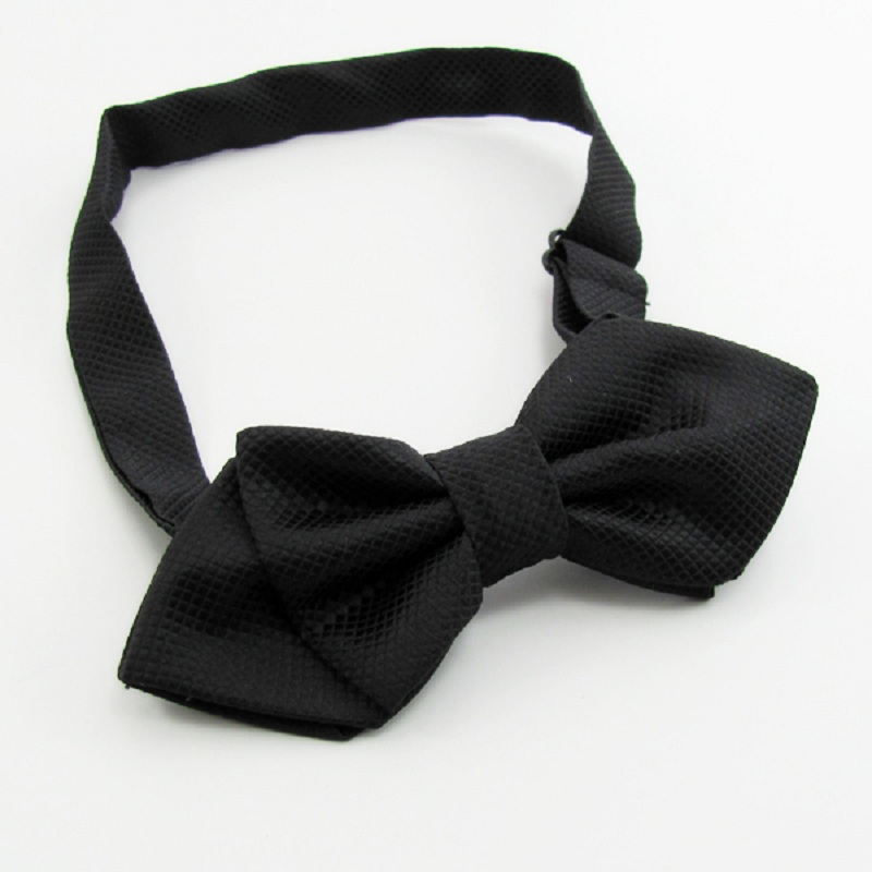 HOOYI 2019 jednobarevné kravaty pro muže motýlek kravata z motýlek gravata