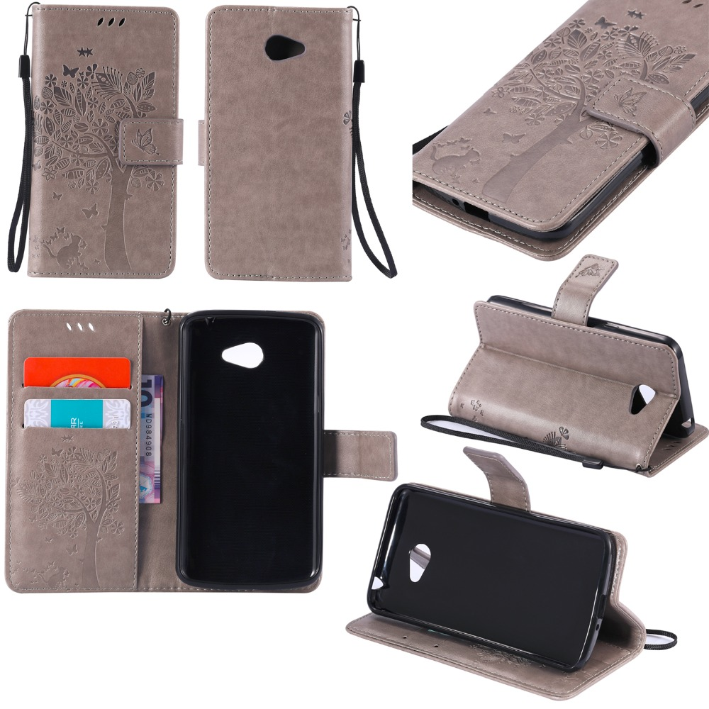 Luxury Wallet Leather Phone Cover Case for LG K5 LTE X220 <font><b>X220DS</b></font> 3D Embossed Flip Case For LG K5 LGK5 with Stand Card Holder bag image