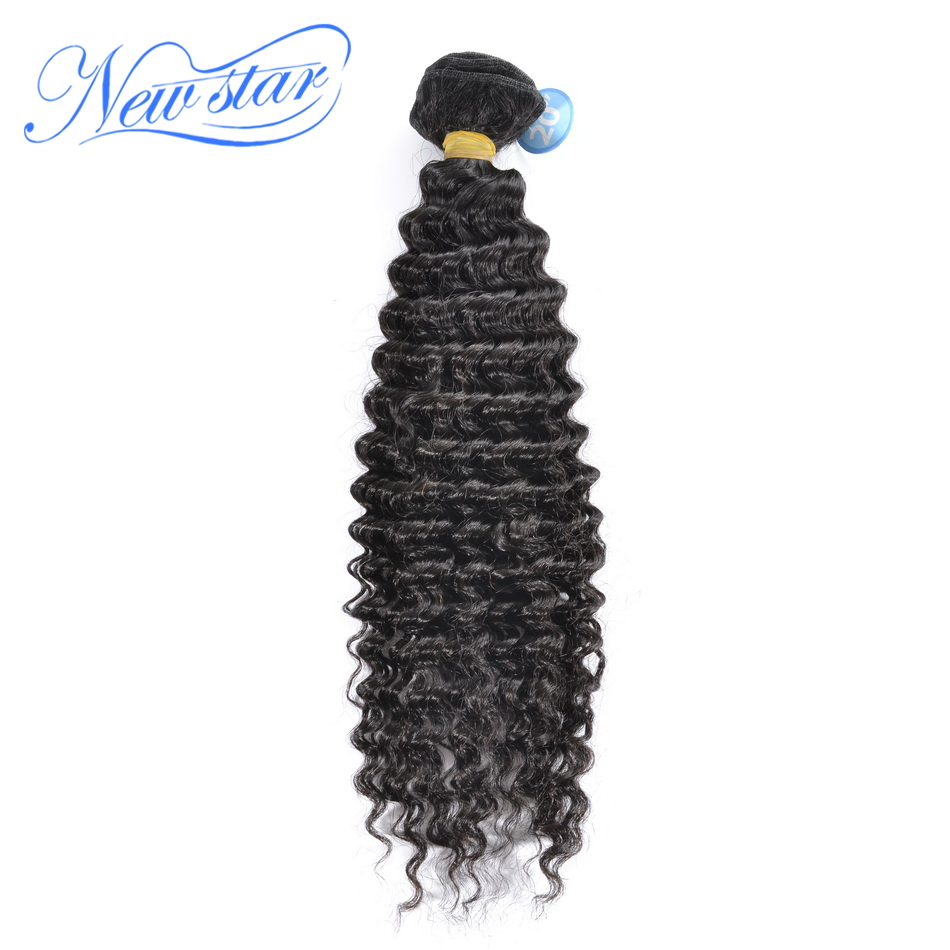 New Star Hair Brazilian Deep Curly Virgin Human Hair Wave 1 Bundles 10-30 Inches Natural Color 100% Unprocessed Hair Weaving