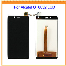 100% New For Alcatel One Touch Idol Alpha OT6032 6032 LCD Screen Display with Touch Screen Digitizer Assembly Free Shipping