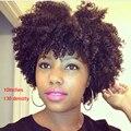 Sumer Hairstytle Pelo Natural Brasileño Pelucas Delanteras Del Cordón Corto Afro Rizada rizada Peluca Llena Del Cordón Del Pelo Humano Pelucas Para Negro mujeres