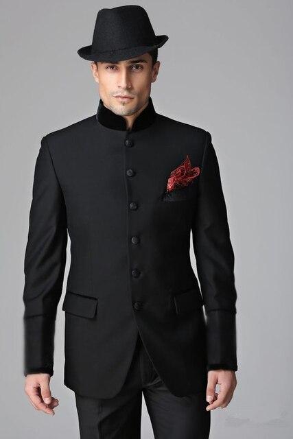 Ultimi Disegni Del Cappotto della Mutanda Nero Smoking Dello Sposo Slim Fit  Tailor Made Mens Wedding 18470025ece