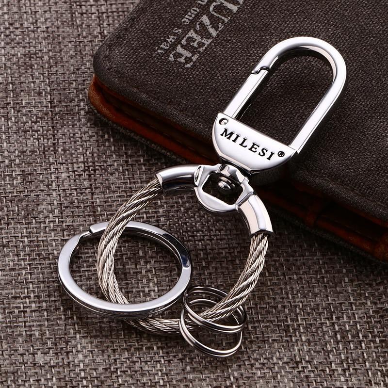 Milesi 2017 fashion zinc alloy keychain waist hung men for Porte a porte clothing