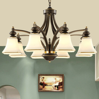 Высокое качество классические люстры Гостиная лампа E27 гнездо Ну посылка люстры para кварто