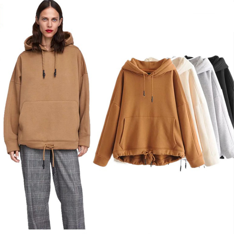 COZARII 2018 frauen BTS hoodie Sweatshirts mit kapuze Frühen herbst känguru feste kapuze regelmäßige mode frauen hoodie plus größe