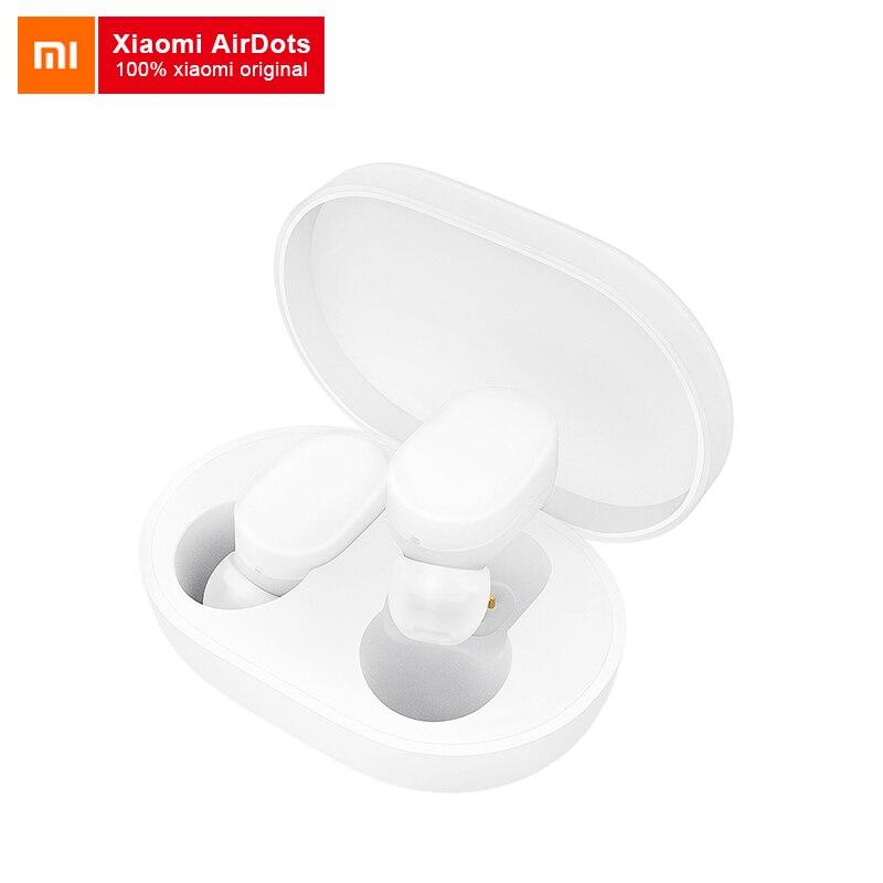 Xiao mi jia AirDots беспроводные Bluetooth наушники BT 5,0 mi стерео гарнитура с mi c наушники для iPhone samsung huawei наушники