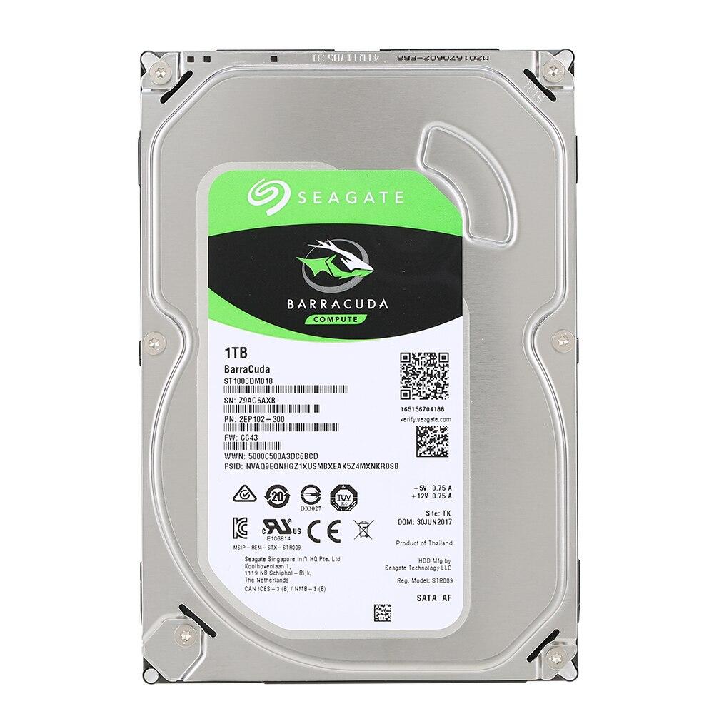 """シーゲイト1テラバイトデスクトップhdd内蔵ハードディスクドライブ7200 rpm sata 6ギガバイト/秒64メガバイトキャッシュ3.5 """"インチST1000DM010 hddハードディスクドライブディスクコンピュータ  グループ上の パソコン & オフィス からの 内蔵HDD の中 1"""