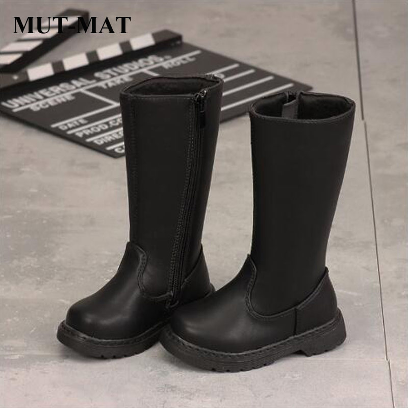 Kid Martin Boots Leather Boots New Boys And Girls Plus Velvet Warm Martin Boots Baby Modis Cotton Boots