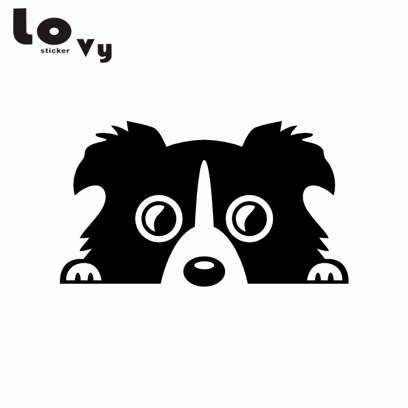Border Collie Dog Pet Car Sticker Cartoon Animal Vinyl Car Decal pet attire sparkles dog collar 8 12in pink