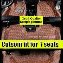 Auto fußmatten Custom fit für Nissan patrol Y62 2017 7 sitze wasserdichte auto-styling leder teppich liner für vier jahreszeiten