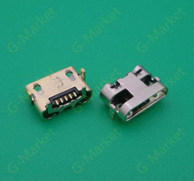 50pcs/lot micro usb jack connector 5 pin charger port micro usb ...