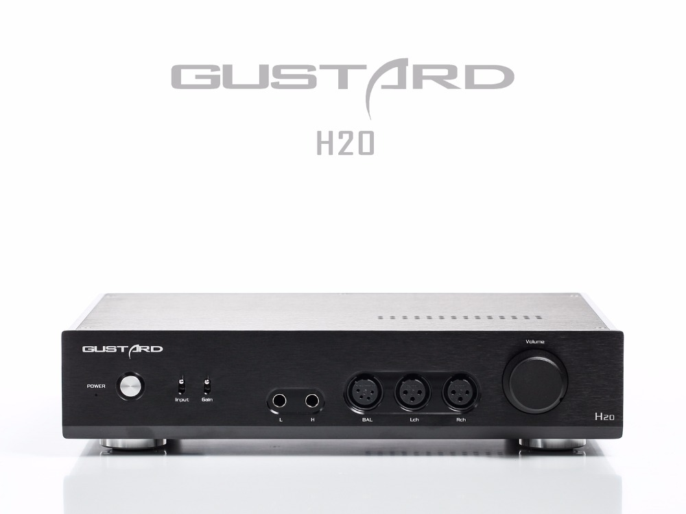 купить 2017 Newest GUSTARD H20 Amp First Pre-balanced Total Class A Headphone Amplifier Digital Audio Interface RCA XLR AMP по цене 64596.27 рублей