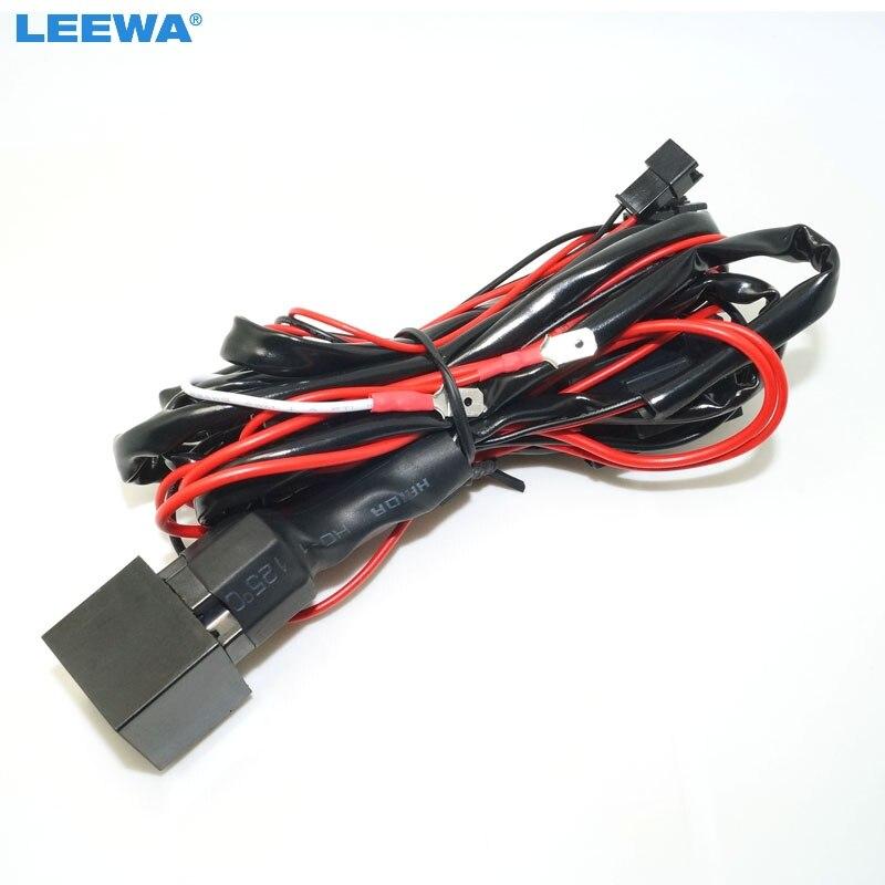 LEEWA 10pcs Relay wiring harness kit for BMW CCFL LED angel eyes light Fade Function CA4758 leewa 10pcs relay wiring harness kit for bmw ccfl led angel eyes wiring harness function at readyjetset.co