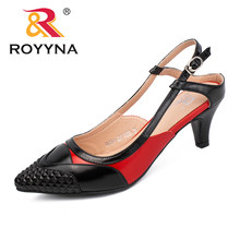 df1ac6283 ROYYNA New Arrival Fashion Style Mulheres Bombas Pontas Do Dedo Do Pé  Sapatas de Vestido Das Mulheres sapatos de Salto Alto Sapa.
