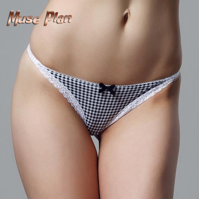 Elastic Lace Women's Underwear Open Crotch Panties