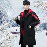 Kış erkek Mont Sıcak Kalın Erkek Ceketler Yastıklı Rahat Kapşonlu Parkas Erkekler Paltolar Erkek Marka Giyim