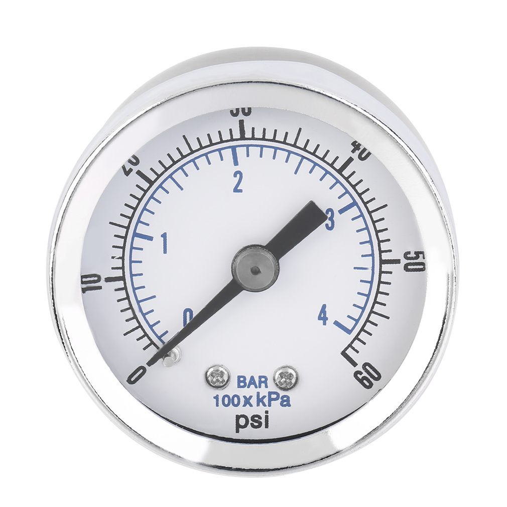 Hot ACEHE 1/8'' NPT Air Compressor Hydraulic Pressure Gauge 0-60 PSI Back Mount Worldwide Store Dropshipping