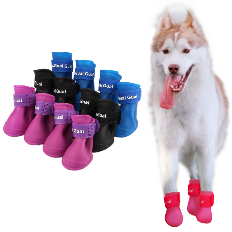 Háziállat cipő kutya vízálló 1 szett kutya candy színek csizma - Pet termékek