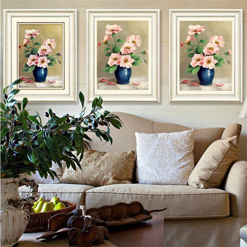 DIY Diamond Embroidery 3D Diamond Painting Full Square Park Benches/Rose /Lotus Cross Stitch Needlework Craft Home Decoration