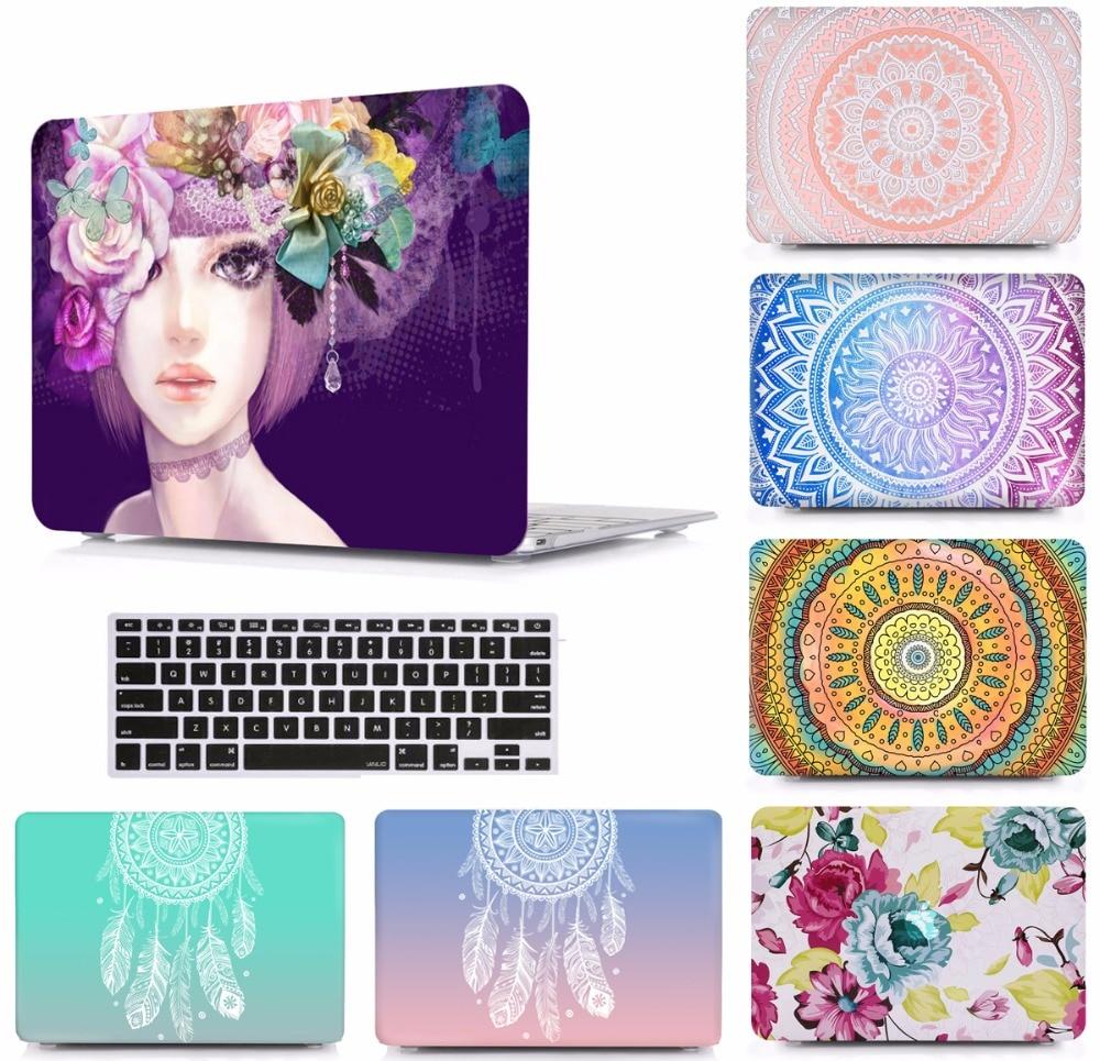 Laptop Design Pattern Protective Hard Shell Case Keyboard Cover Skin For 11 12 13 15 font