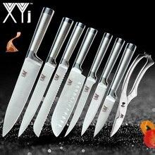 XYj набор кухонных ножей из нержавеющей стали, нож для очистки фруктов Santoku, нож для нарезки хлеба, обвалки, ножницы в форме рыбы, набор ножей, аксессуары