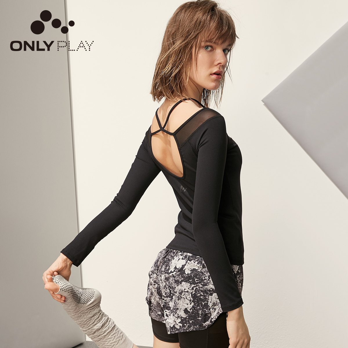 ONLY PLAY Women's Slim Fit Long-sleeved Gauzy T-shirt |119102506