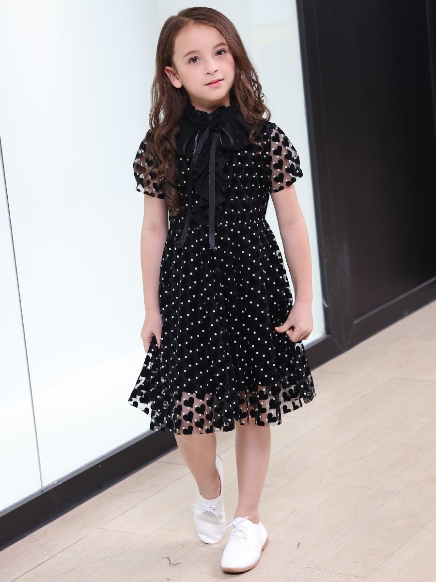 Vestidos Negros Para Niñas Adolescentes 2018 Moda Verano Vestido De Manga Corta Para Niños 6 8 10 12 14 16 Años Disfraz Para Niñas