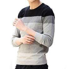 Свитера 2015 новинка осень зима мужские лоскутное свободного покроя уменьшают подходящую о шеи с длинными рукавами вязаный свитер пуловер мужчины(China (Mainland))
