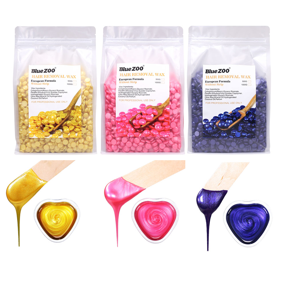 Pro 500g/1000g Depilatory Wax Beans Hot Film Hard Waxing Bean Pellets No Strip Body Face Women Bikini Hair Removal Bean Tools