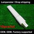 G23 conduziu a lâmpada 4 W 6 W 8 W 10 W em luz ac85-265V downlights pl-s 110 V 220 V 230 V 240 V warm white/Pure white/Cool white 10 pçs/lote