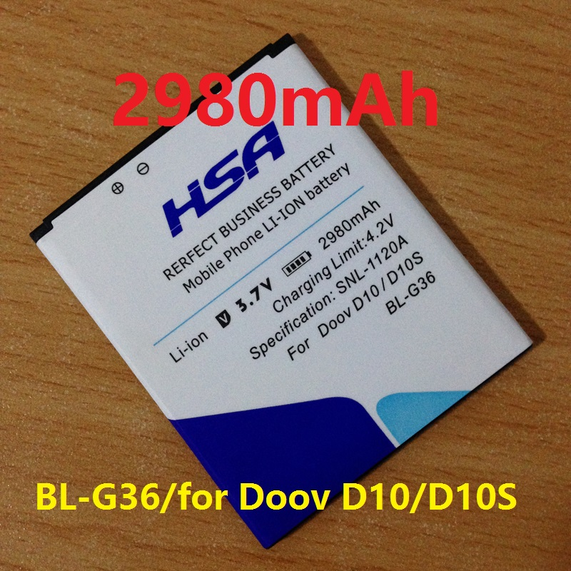 Cellphones & Telecommunications Mobile Phone Parts Hard-Working New 2980mah Bl-g36 Phone Battery Use For Doov D10 D10s 5 Explay Hd Quad 3g Phone Be Novel In Design