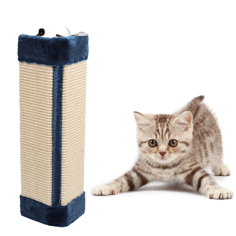 Sisal Cat Scratch Board cat Toy Kitten Scratcher Mat Pad Interactive cat Toy Training fo ...
