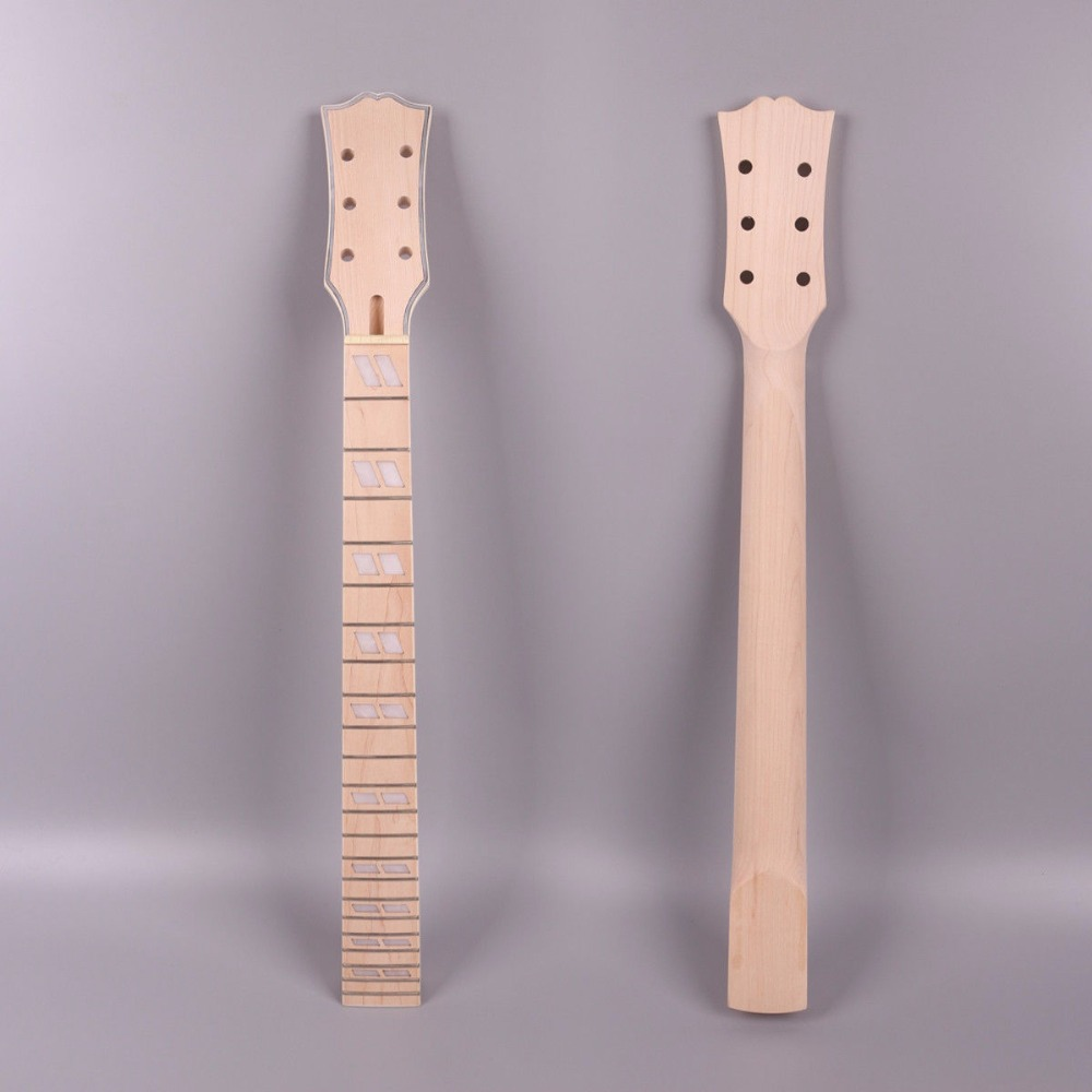 diy 1x electric guitar neck 22 fret inch maple hand made standard size l2 in guitar. Black Bedroom Furniture Sets. Home Design Ideas