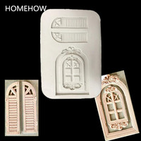 Homehow 1PC/Lot European Style Door Windows Shape Cake Fondant Mold Kitchen Accessories Pastry Decorating Tools Soap Mould
