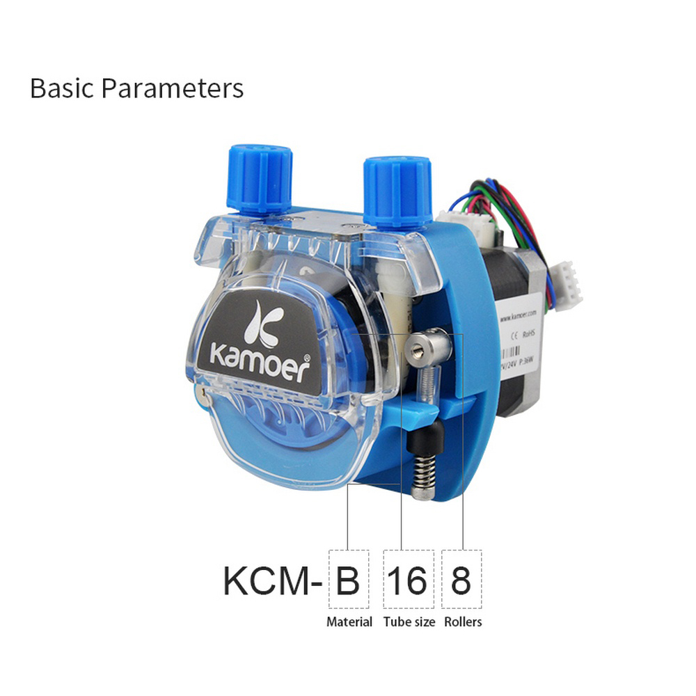 12V /24V Mini Peristaltic Water Pump With Stepper KCM Motor And BPT/Silicon Tube Suit For Viscous/ Non-viscous Liquid Transport