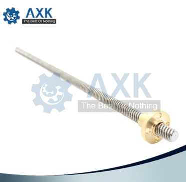 304 Stainless Steel T12 *300 Mm (1PCS)  Length Trapezoidal Spindle Screw And Brass Nut