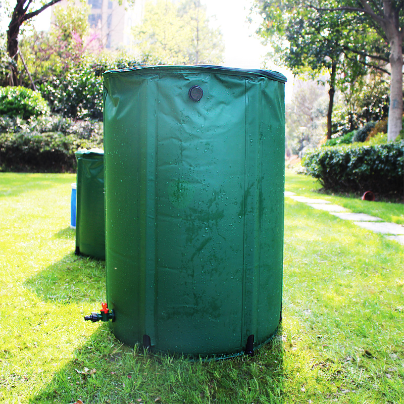 100L 41x75cm rain barrel water tank strong PVC tarpaulin collapsible plasitc rain collector garden water irrigation bag 2017