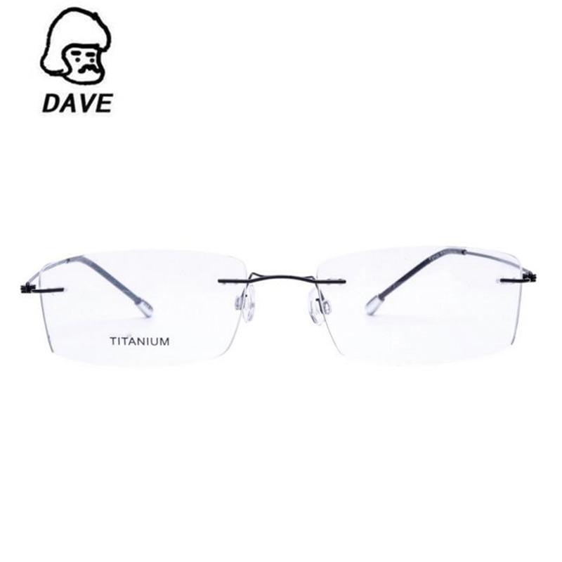 Platz Randlose Myopie gold Schwarzes Optische Rahmen Ultraleicht Titan blau gun Legierung brown Brillen Frauen Dave silber nUxTqHRYww