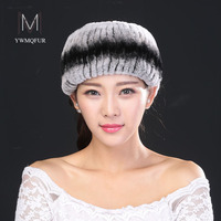 YWMQFUR Newest Women S Fur Hat Scarf Dual Use Real Rex Rabbit Fur Winter Ring Scarf