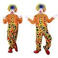 Los Hombres Adultos de Disfraces Cosplay Carnaval Fiesta De Disfraces De Payaso divertido Circo Superior Mono de la Ropa