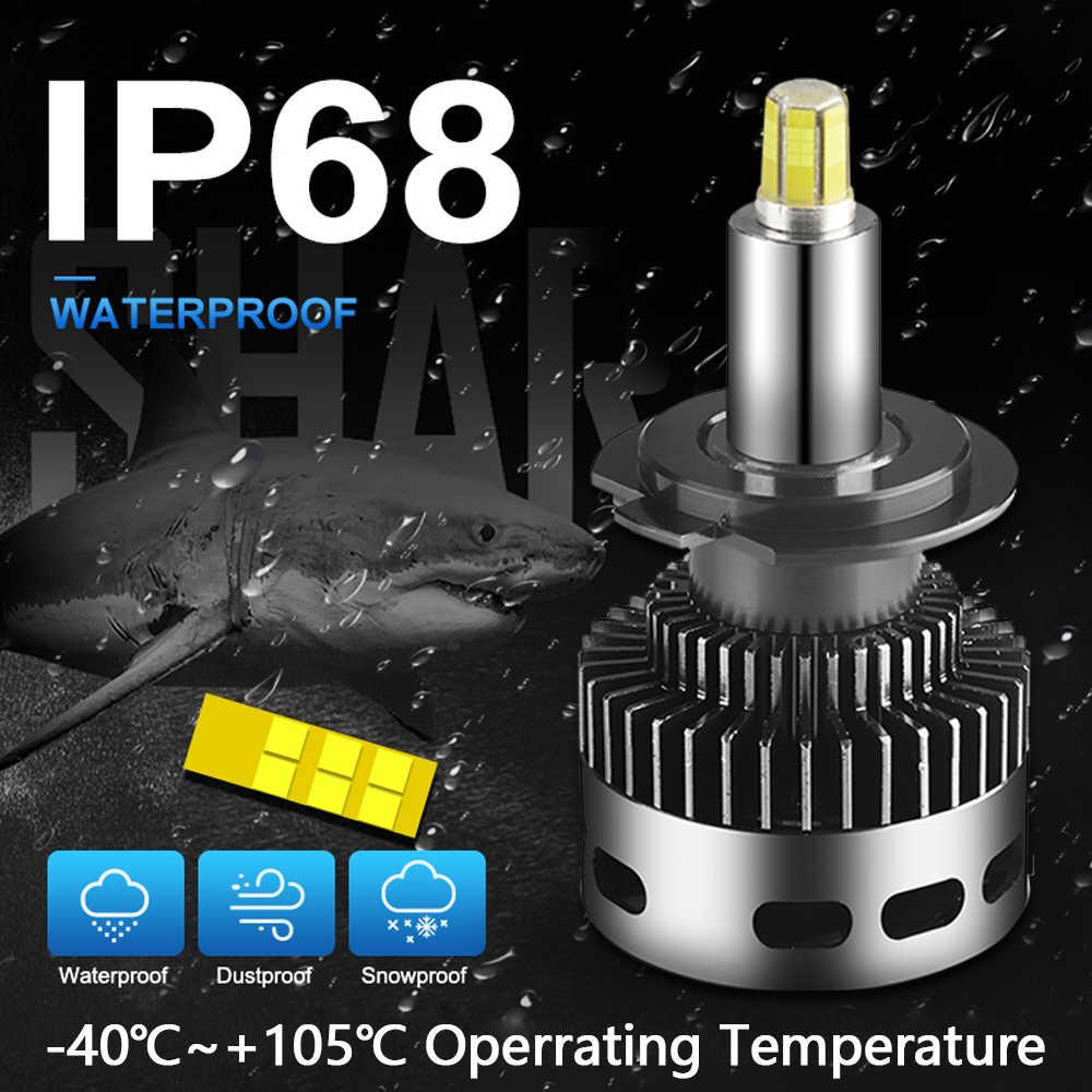2Pcs 12 ด้านข้าง 19000LM CSP H11 H7 Canbus ไฟหน้ารถ H8 H1 HB3 9005 9006 3D 360 องศาไม่มีข้อผิดพลาดหลอดไฟ LED ยานยนต์หมอกโคมไฟ 12V