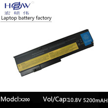 5200Mah 6 cells Laptop Battery For Lenovo ThinkPad X200 X200s 42T4834 42T4835 43R9254 ASM 42T4537 FRU 42T4536 42T4538